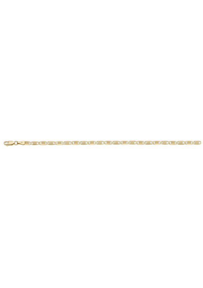 firetti Collierkettchen in Plättchenkettengliederung in Gelbgold 375