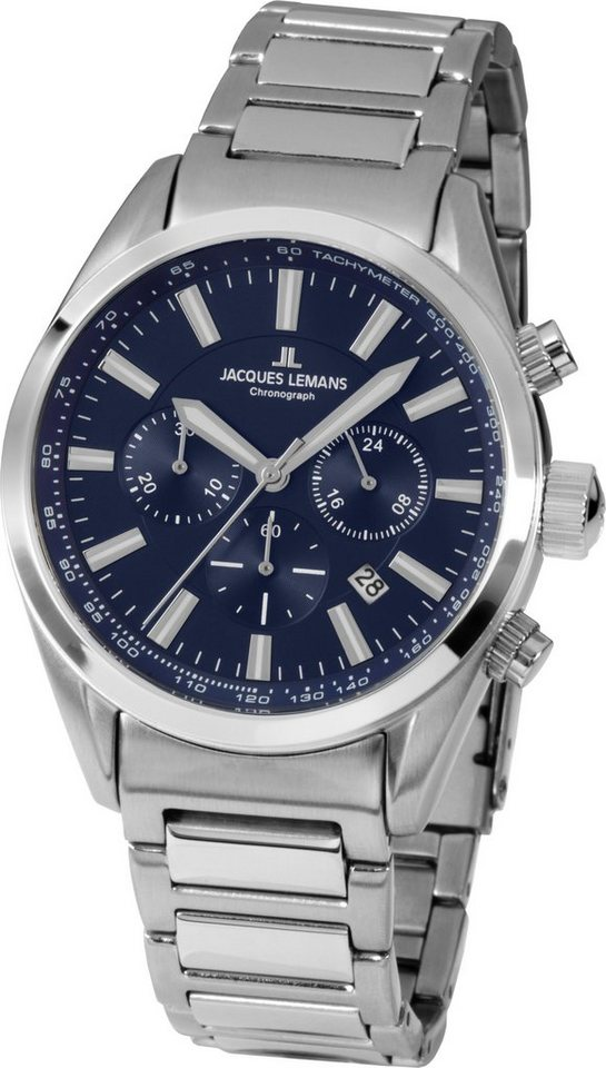 Jacques Lemans Sports Chronograph, »41-4B« in silberfarben