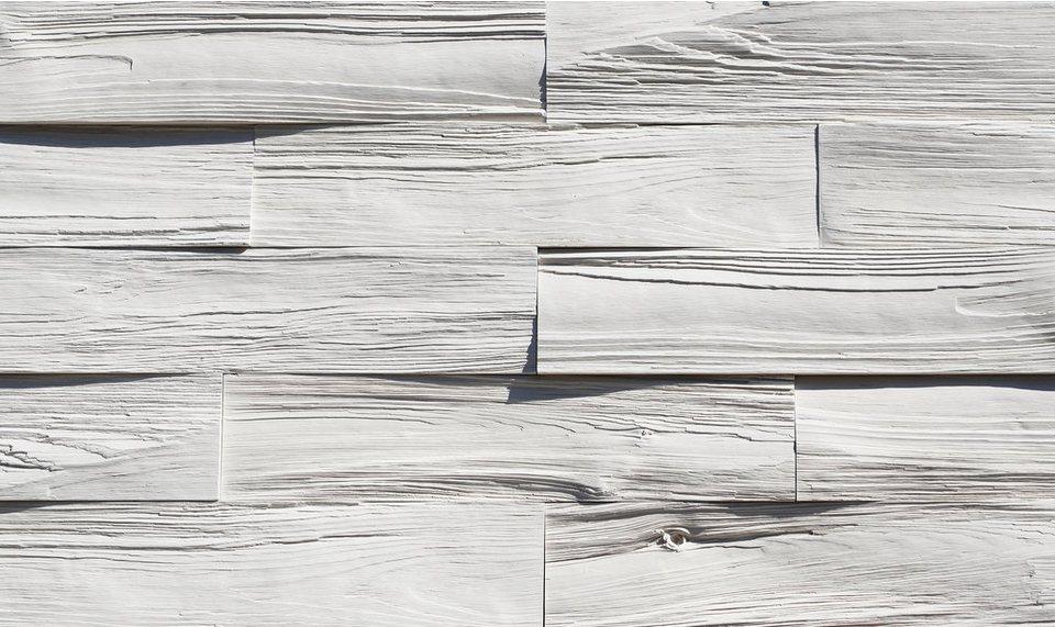 Verblendsteine »Timber«, weiß in weiß