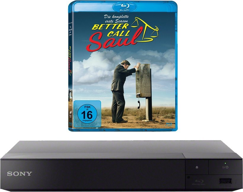 "Sony BDP-S6500 3D Blu-ray-Player, 4K UHD-Upscaling, inkl. Blu-ray ""Better Call Saul - Staffel 1"" in schwarz"