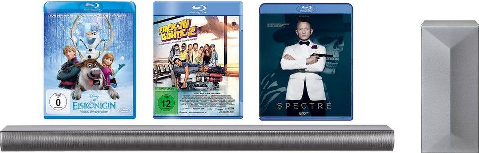 """LG LAC650H Soundbar inkl. Blu-ray Filme """"James Bond Spectre, Die Eiskönigin, Fack Ju Göthe 2"""" in grau"""
