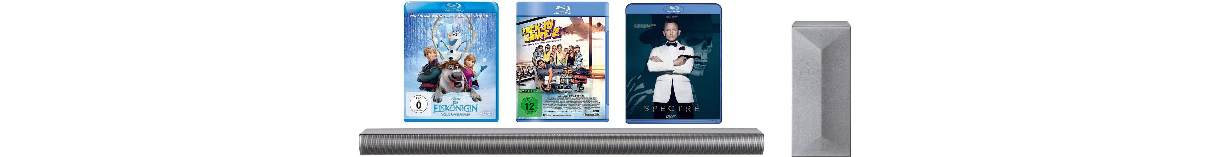 "LG LAC650H Soundbar inkl. Blu-ray Filme ""James Bond Spectre, Die Eiskönigin, Fack Ju Göthe 2"""