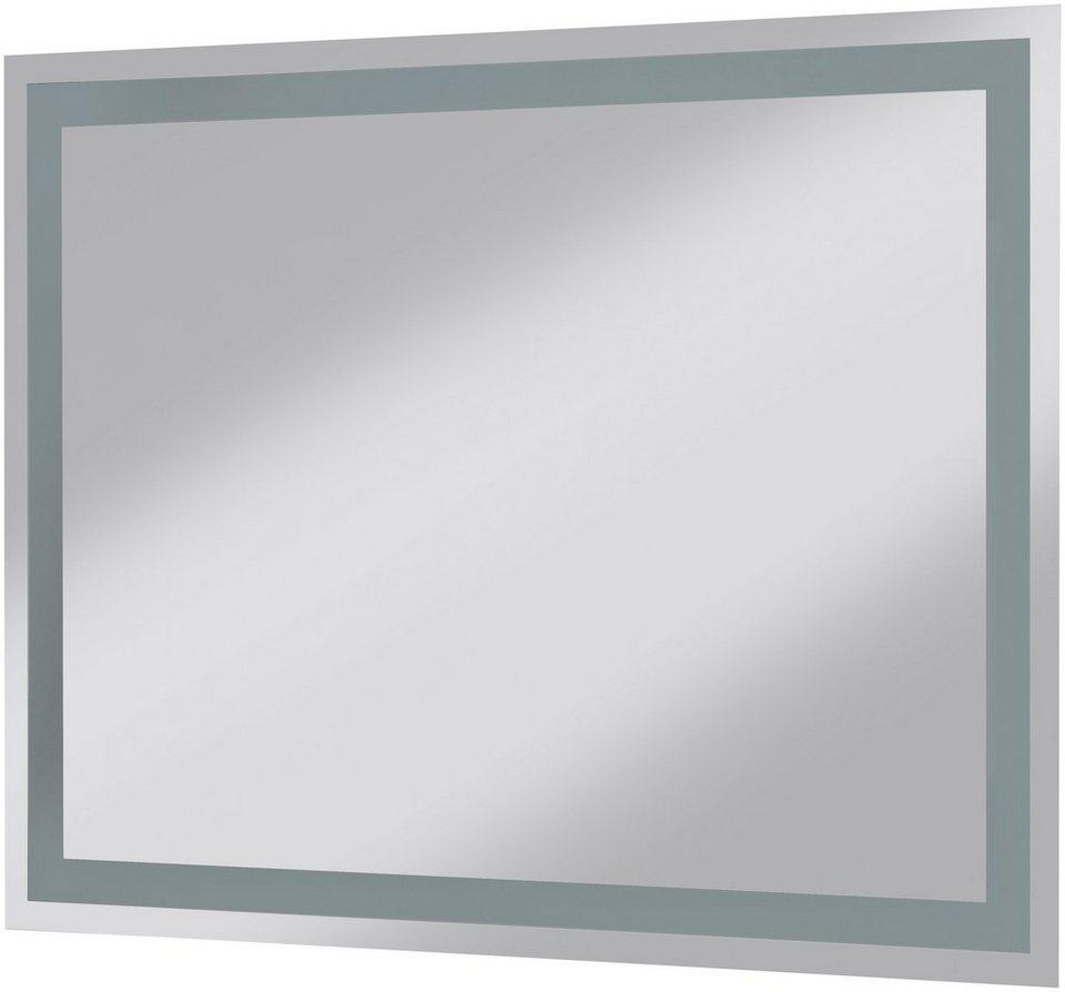 Posseik Spiegel / Badspiegel »York«, Breite 80 cm, mit Beleuchtung in transparent