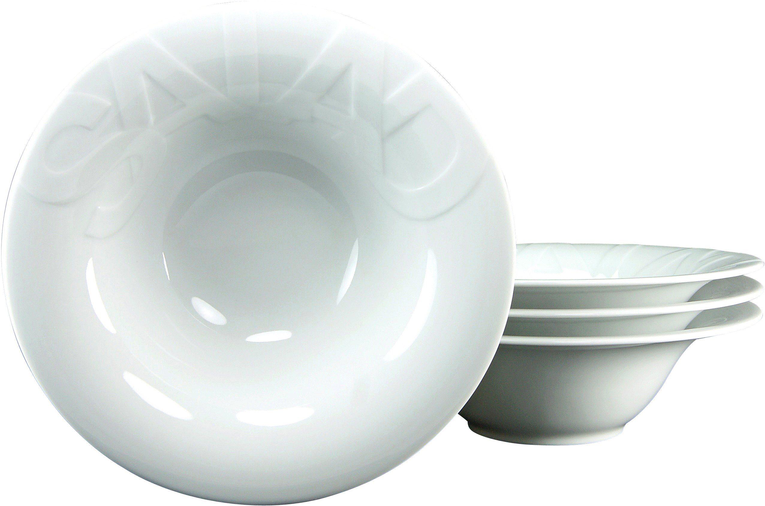 CreaTable Salatteller, Porzellan, 27 cm, »GOURMET« (4 Stck.)