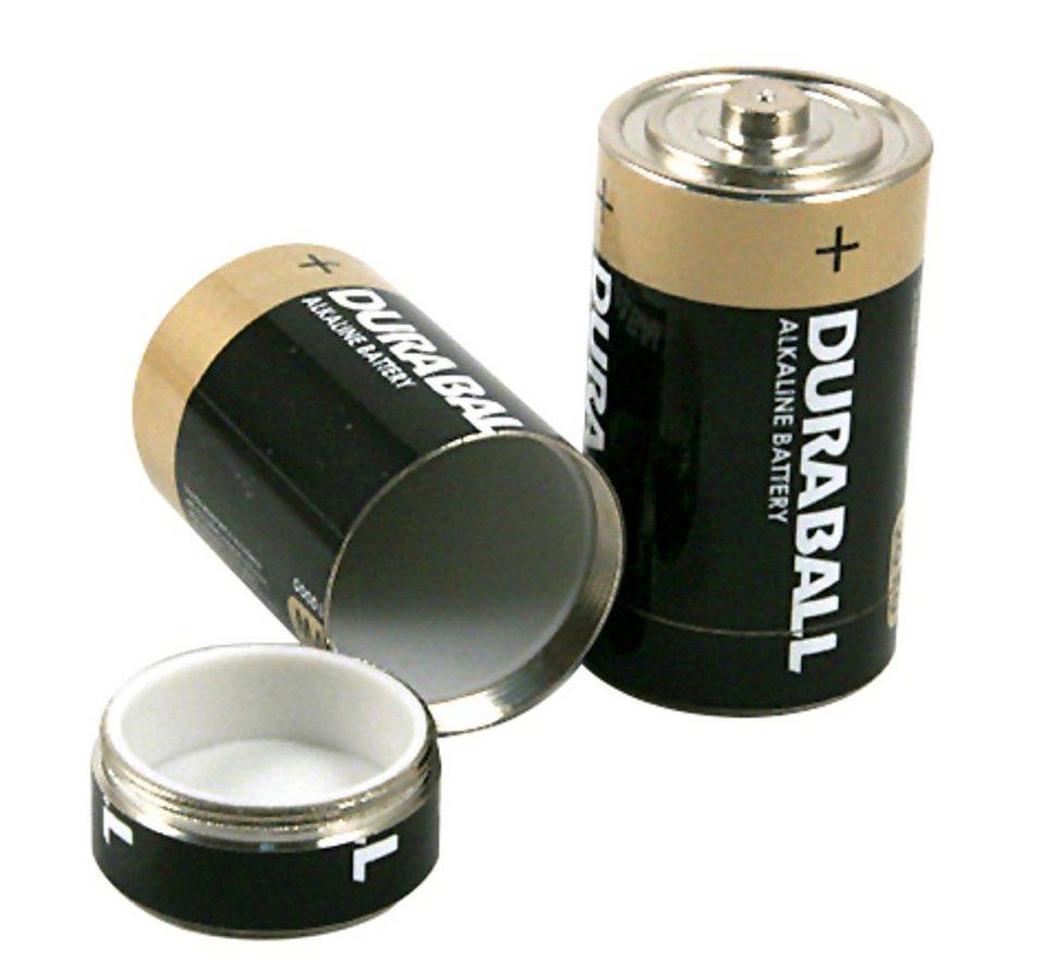 Basic Nature Wertsachenaufbewahrung »Undercover Batterie Dosensafe 2 Stück« in schwarz