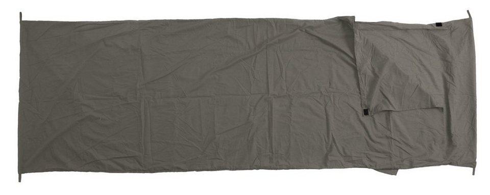 Basic Nature Schlafsack »Mischgewebe Inlett Deckenform« in grau