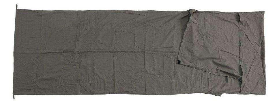 Basic Nature Schlafsack »Baumwollinlett Deckenform« in grau