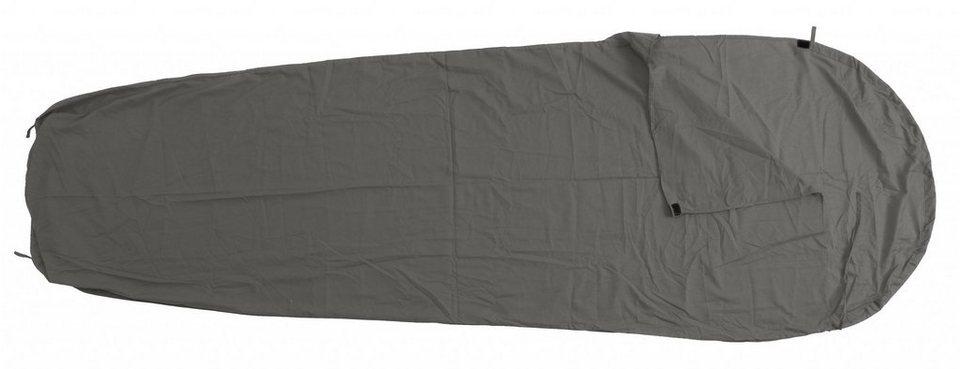 Basic Nature Schlafsack »Mischgewebe Inlett Mumienform« in grau