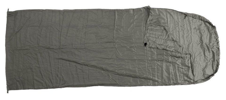 Basic Nature Schlafsack »Seideninlett Deckenform« in grau