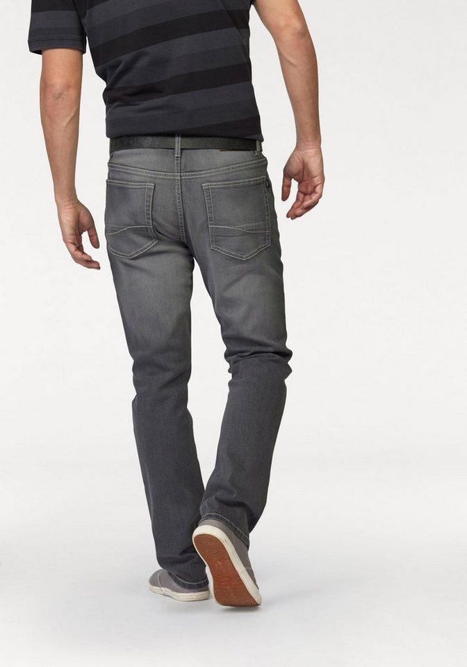 Arizona Stretch-Jeans »Clint« mit schmalerem Beinverlauf in grey-used