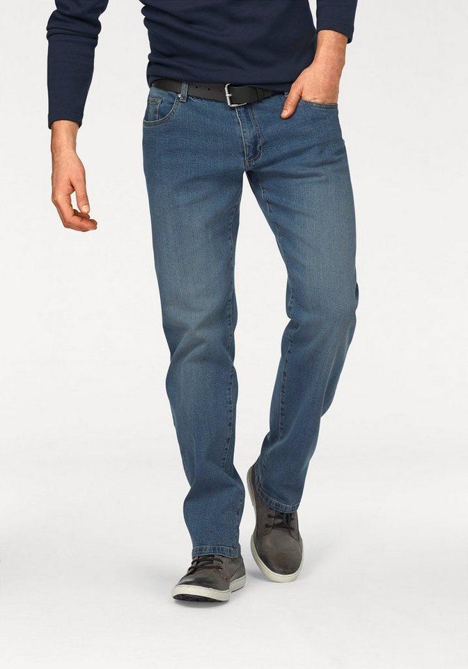 Arizona Stretch-Jeans »Willis« Straight Fit (Set, mit Gürtel) in light-blue-used