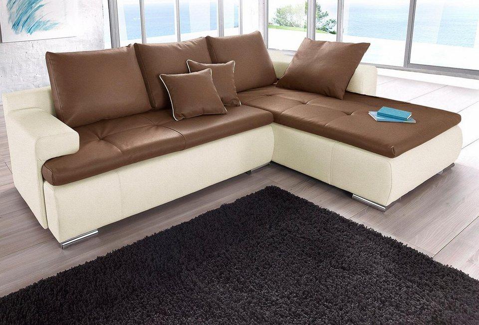 Polsterecke wahlweise mit bettfunktion kaufen otto Sofa primabelle