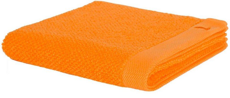 Saunatuch, Möve, »New Essential«, mit Perlstruktur in orange