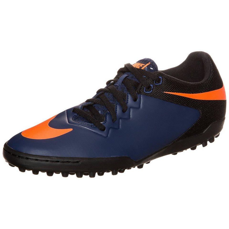 NIKE Hypervenom X Pro TF Fußballschuh Herren in dunkelblau / orange