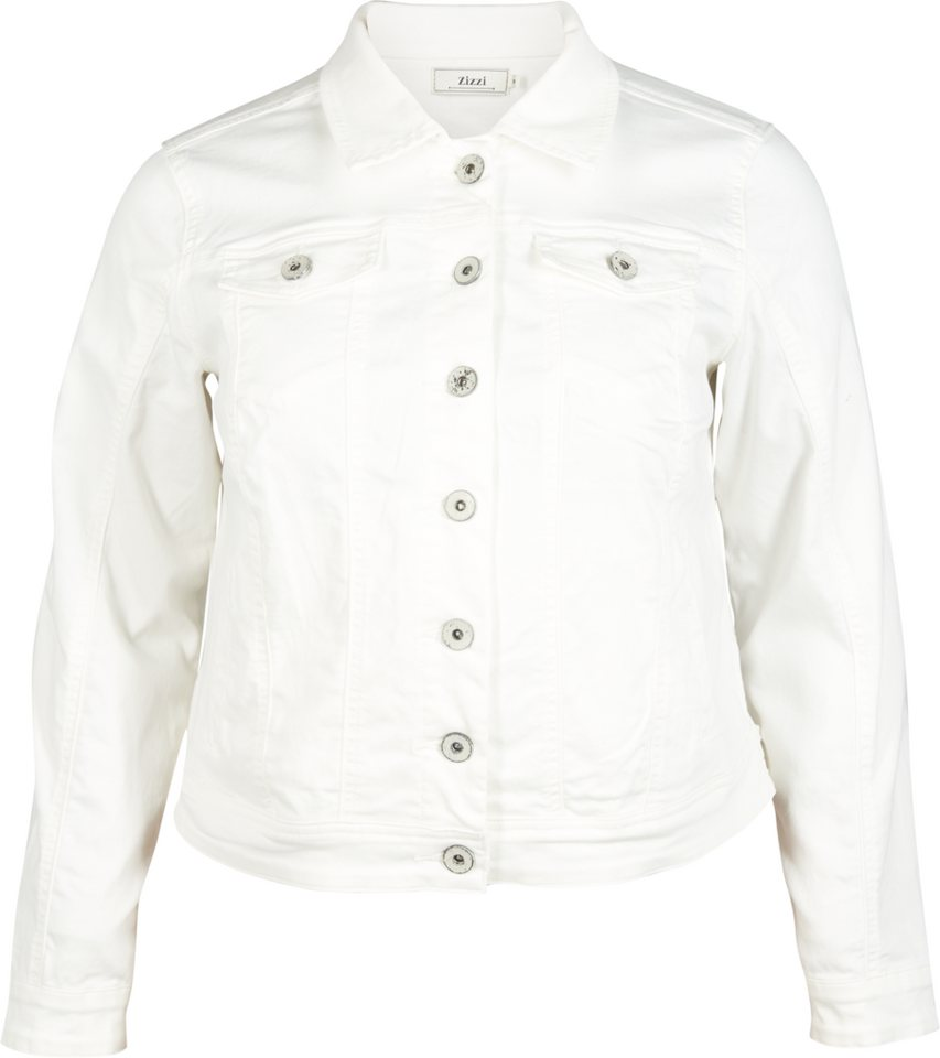 Zizzi Jacke in White Denim