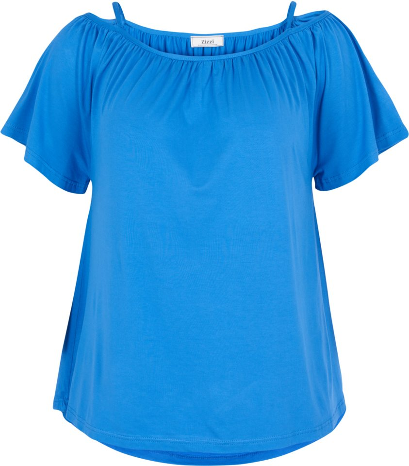 Zizzi Bluse in Palace Blue