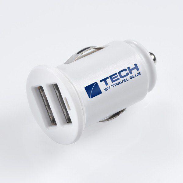Travel Blue Auto-Stromladegerät mit Doppel USB-Anschluss