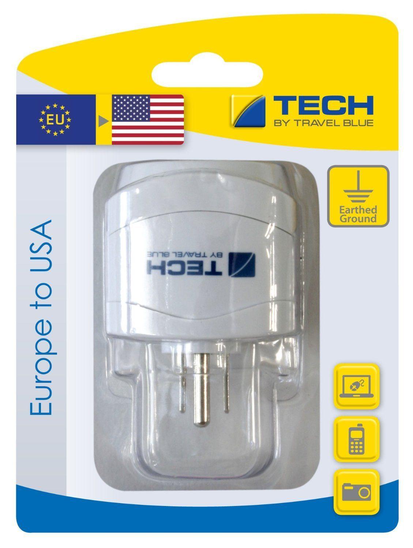 Travel Blue Reiseadapter (Europa nach USA/Nord- und Mittelamerika), weiß