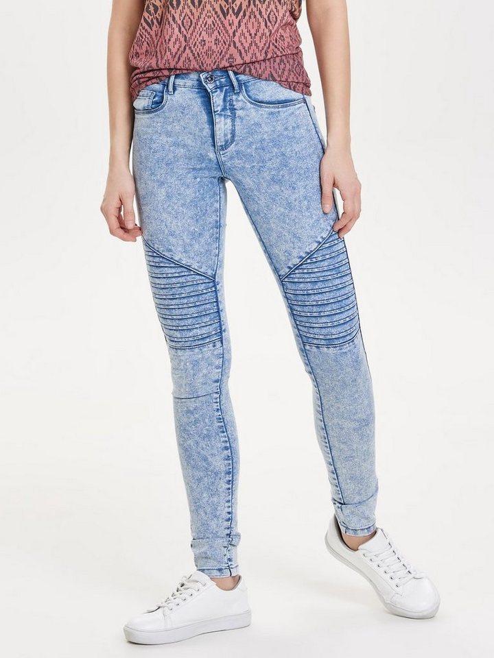 Only Royal reg biker Skinny Fit Jeans in Light Blue Denim