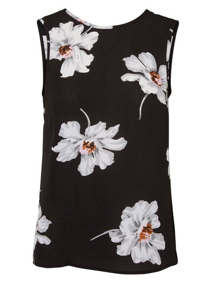 Vero Moda Mit Blumen bedrucktes Oberteil ohne Ärmel in Black