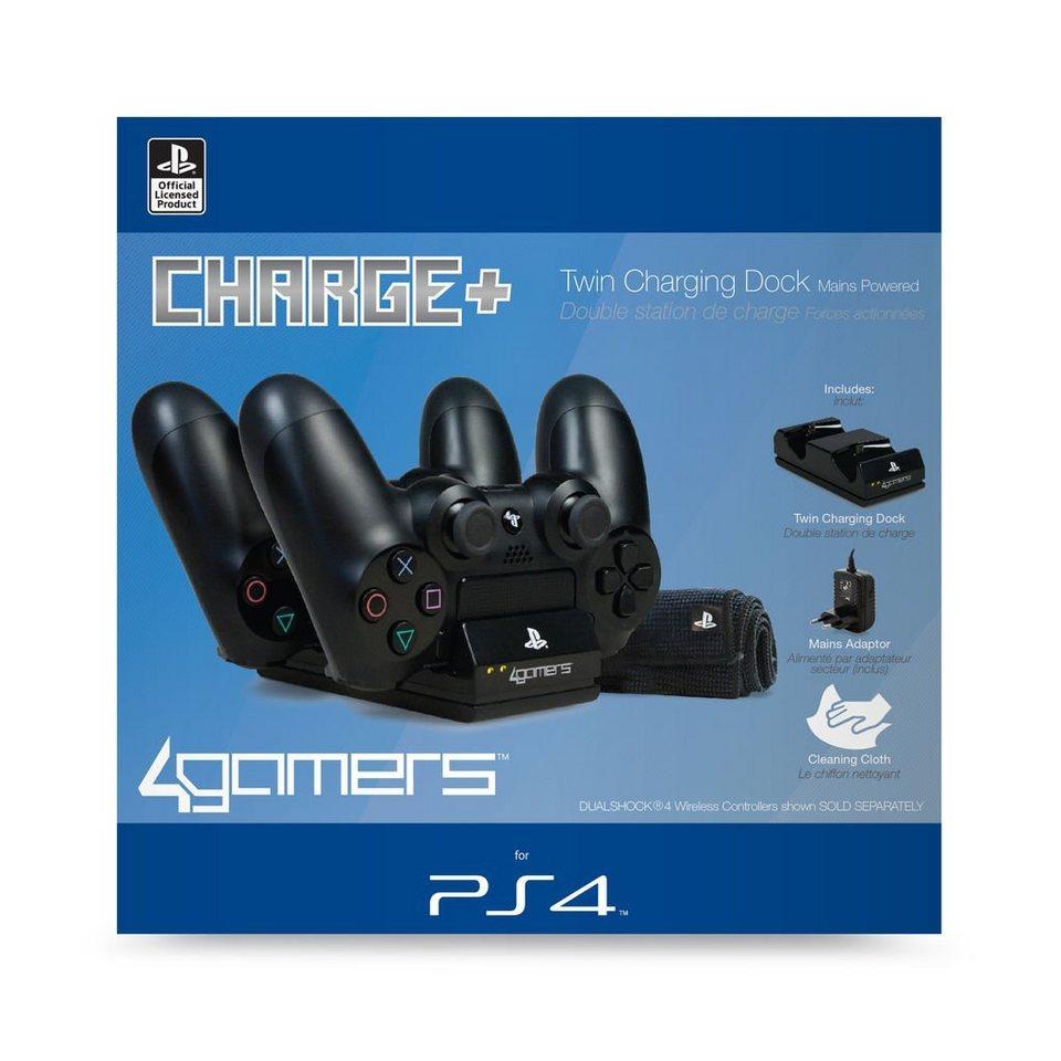 4Gamers Playstation 4 - Zubehör »PS4 Twin Ladestation (inkl. Netzteil)«