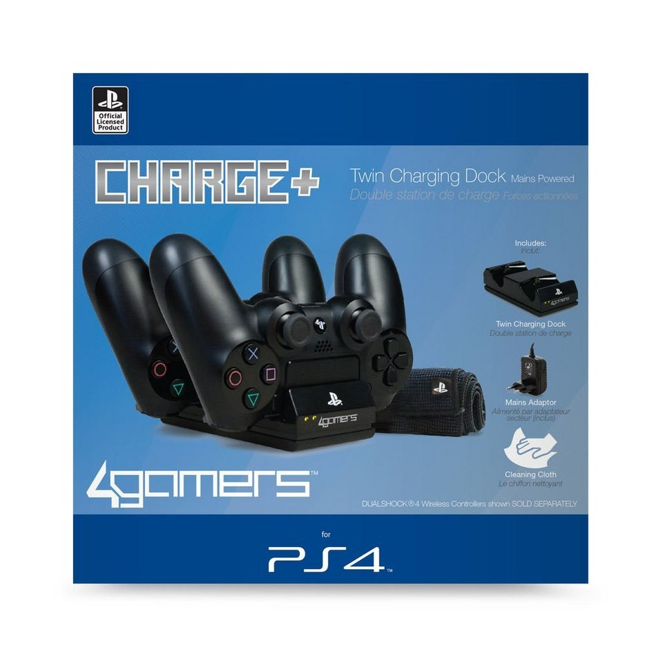 4gamers playstation 4 zubeh r ps4 twin ladestation. Black Bedroom Furniture Sets. Home Design Ideas
