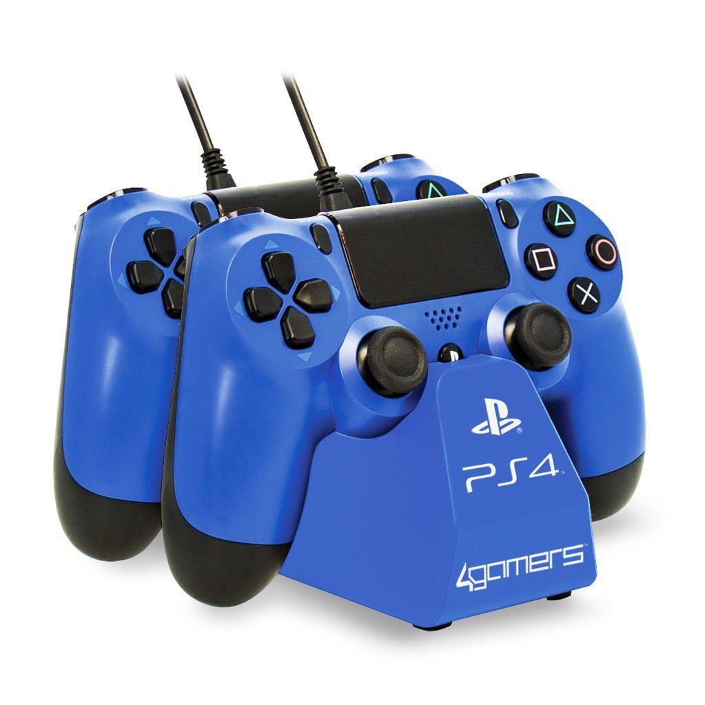 4Gamers Playstation 4 - Zubehör »Dual Charge 'n' Stand - blau«