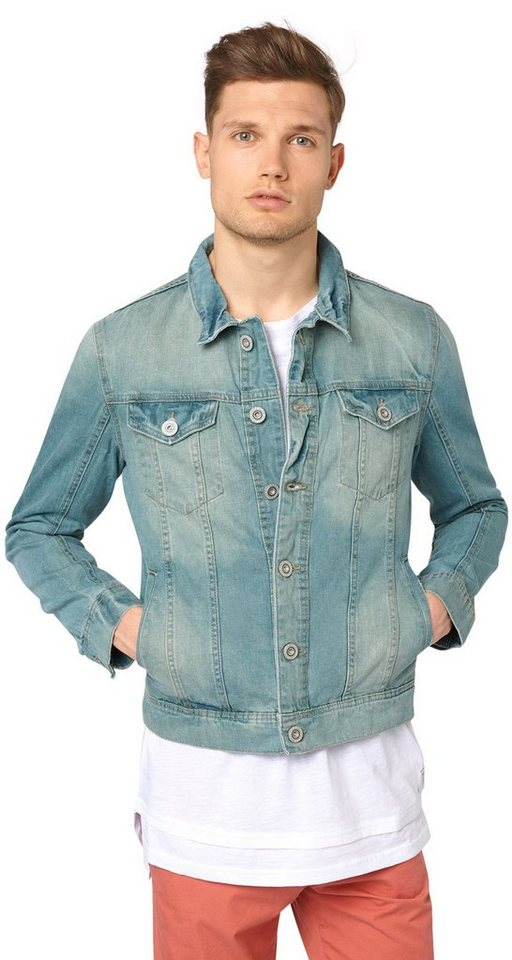 TOM TAILOR DENIM Jacke »Denim-Jacke im Used-Look« in colour denim