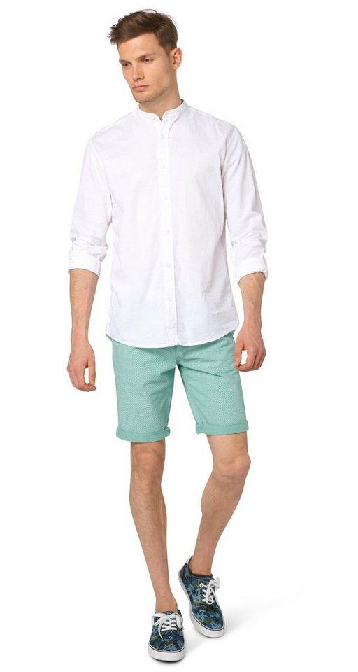 TOM TAILOR DENIM Shorts »Chino-Bermuda mit Gürtel« in washed jade green
