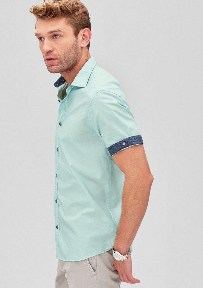 s.Oliver RED LABEL Regular: Oxford-Hemd mit Kontrasten in pale turquoise