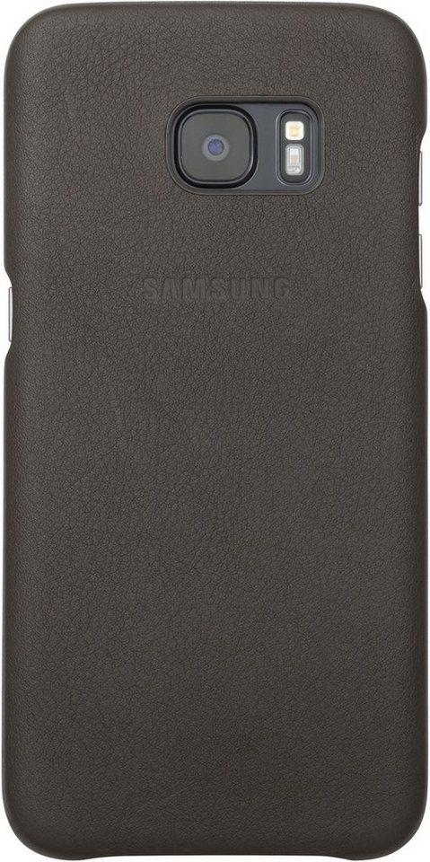 Samsung Handytasche »Leder Cover für Galaxy S7 Edge« in Braun