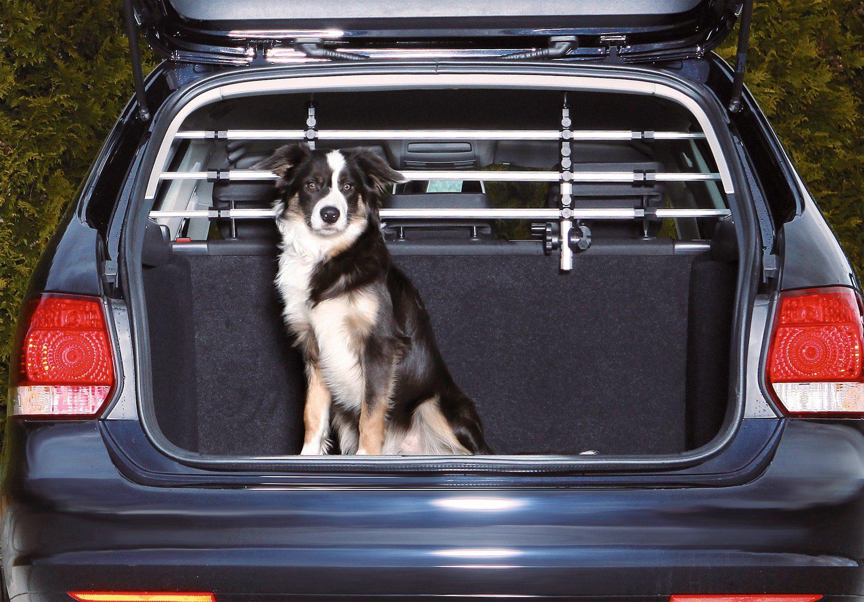 Hunde-Autogitter, Aluminium, B/H: 96-163/34-48 cm
