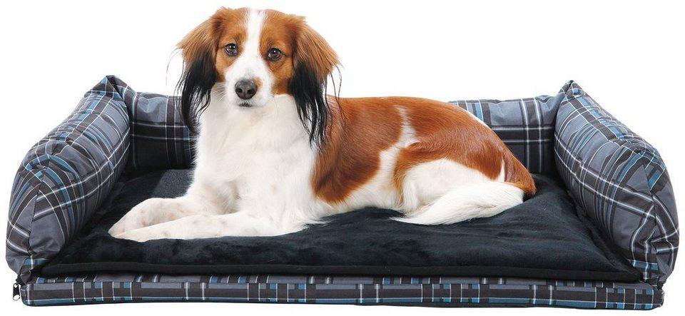 Hunde-Auto-Bett, BxL: 80x60 cm in grau/schwarz