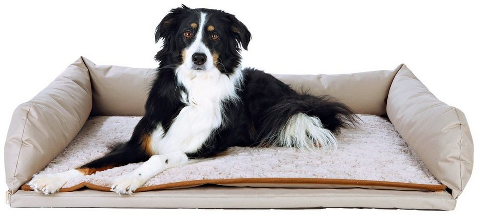 Hunde-Auto-Bett, BxL: 95x75 cm in beige