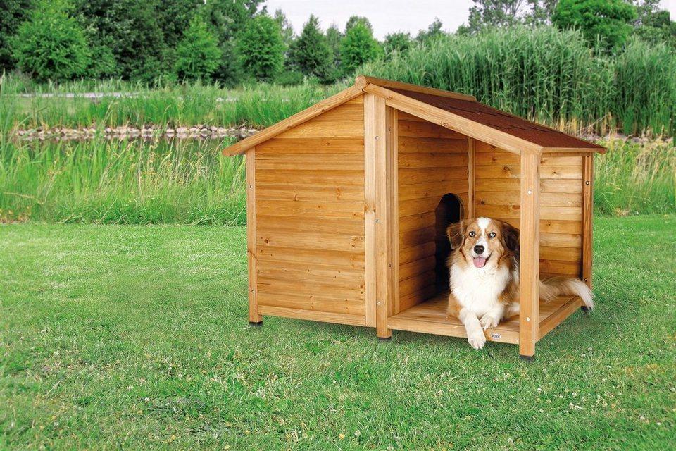 Hundehütte »Lodge Gr. L«, B/T/H: 130/105/100 cm in natur