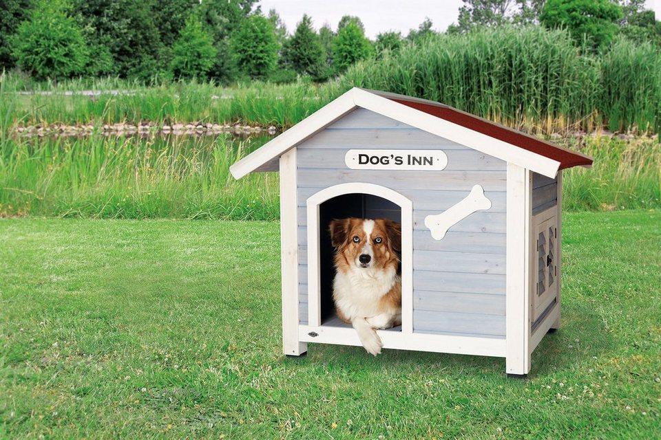 Hundehütte »Dog's Inn Gr. L«, B/T/H: 107/90/93 cm in blau