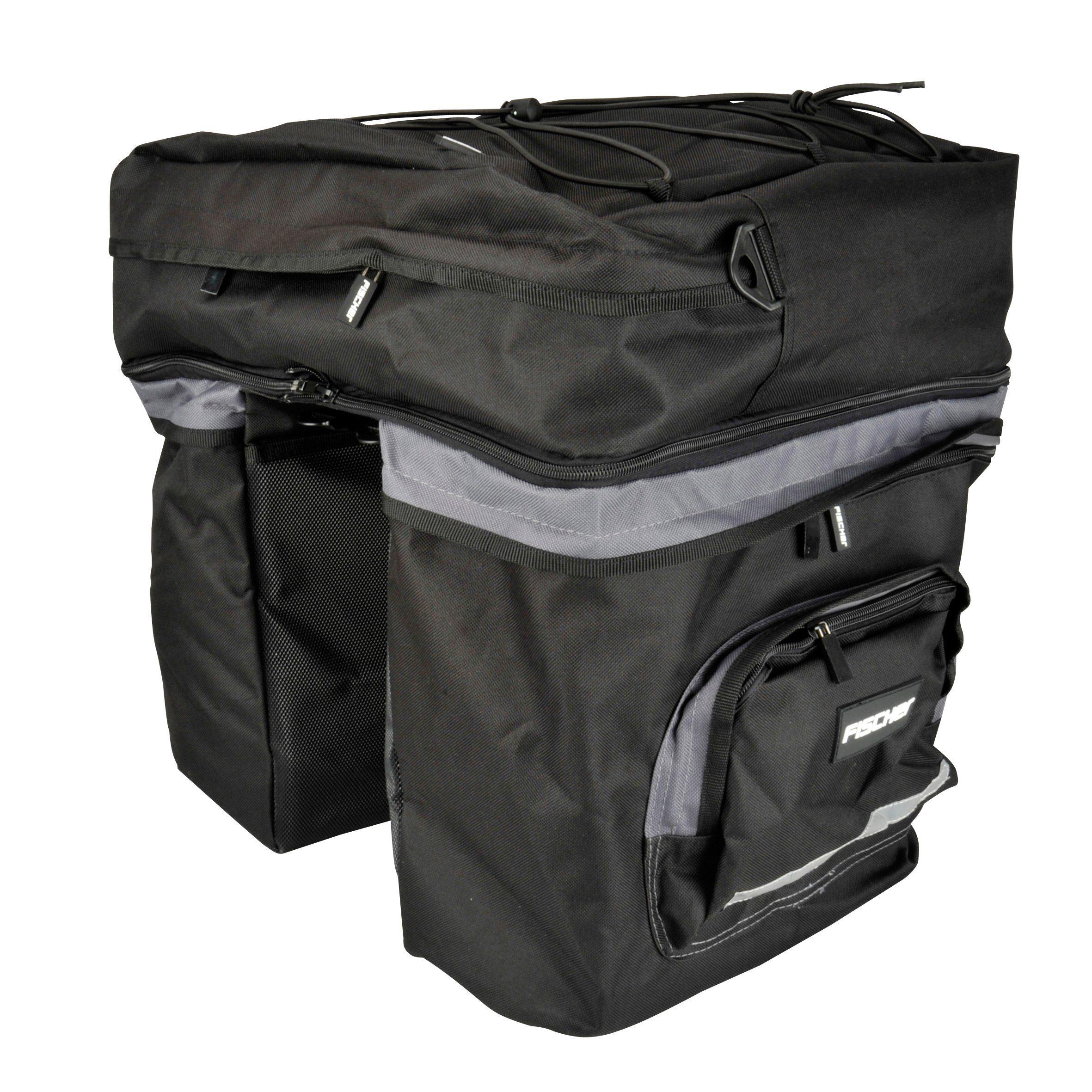 Fischer Fahrraeder Gepäckträgertasche »3-fach«