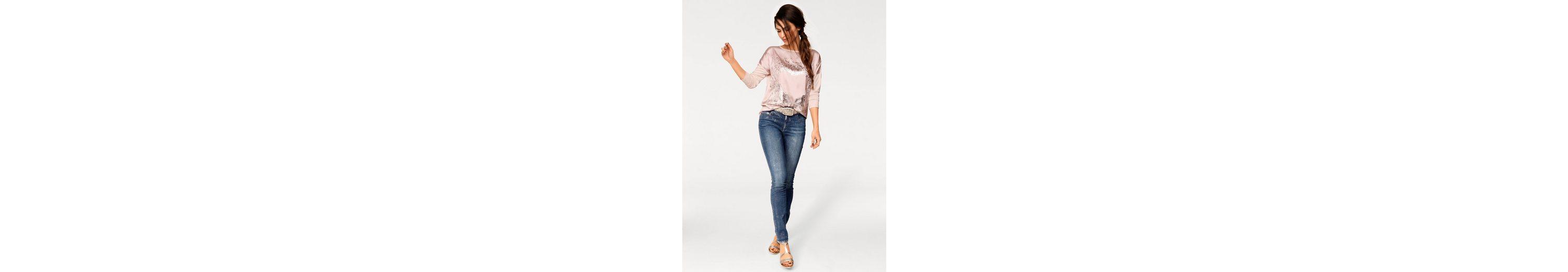 ASHLEY BROOKE by Heine Bodyform-Jeans mit Metallic-Effekt Online Kaufen Mit Paypal Billig Verkauf Mit Paypal OioxGaoI4