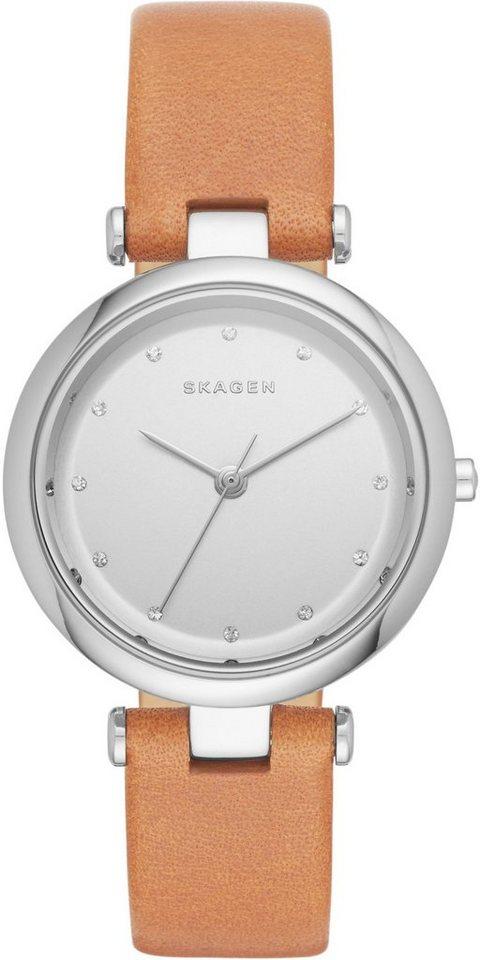 Skagen Armbanduhr, »TANJA, SKW2455« in hellbraun