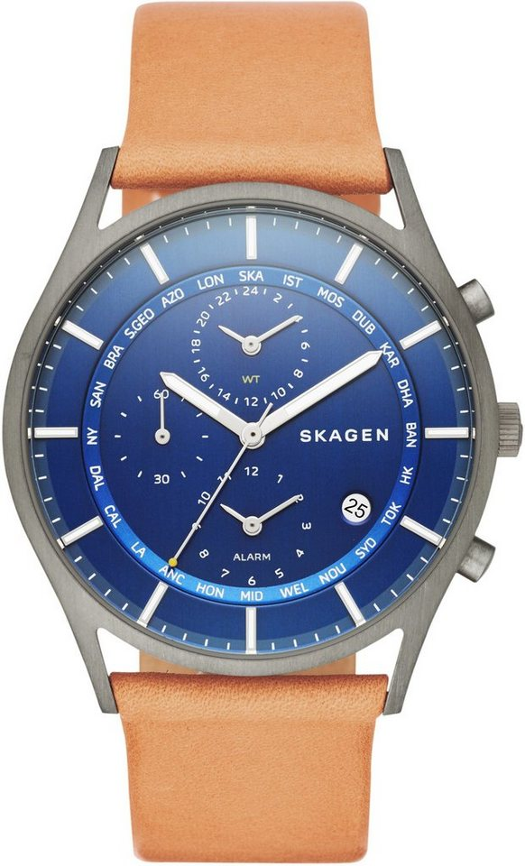 Skagen Chronograph, »HOLST, SKW6285« in hellbraun