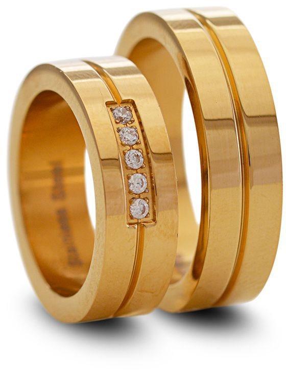 firetti Partnerring in goldfarben