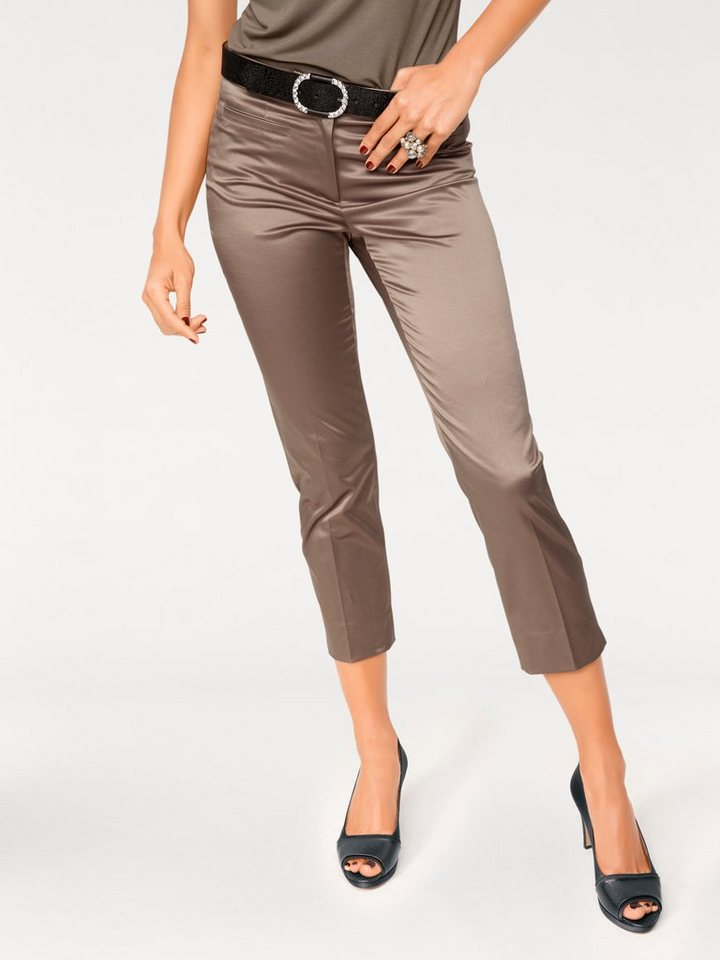 ASHLEY BROOKE by Heine 7/8-Hose Satin in taupe