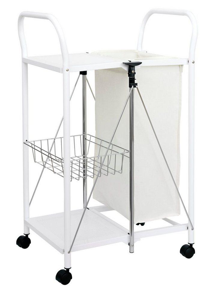 Wäschewagen in weiß