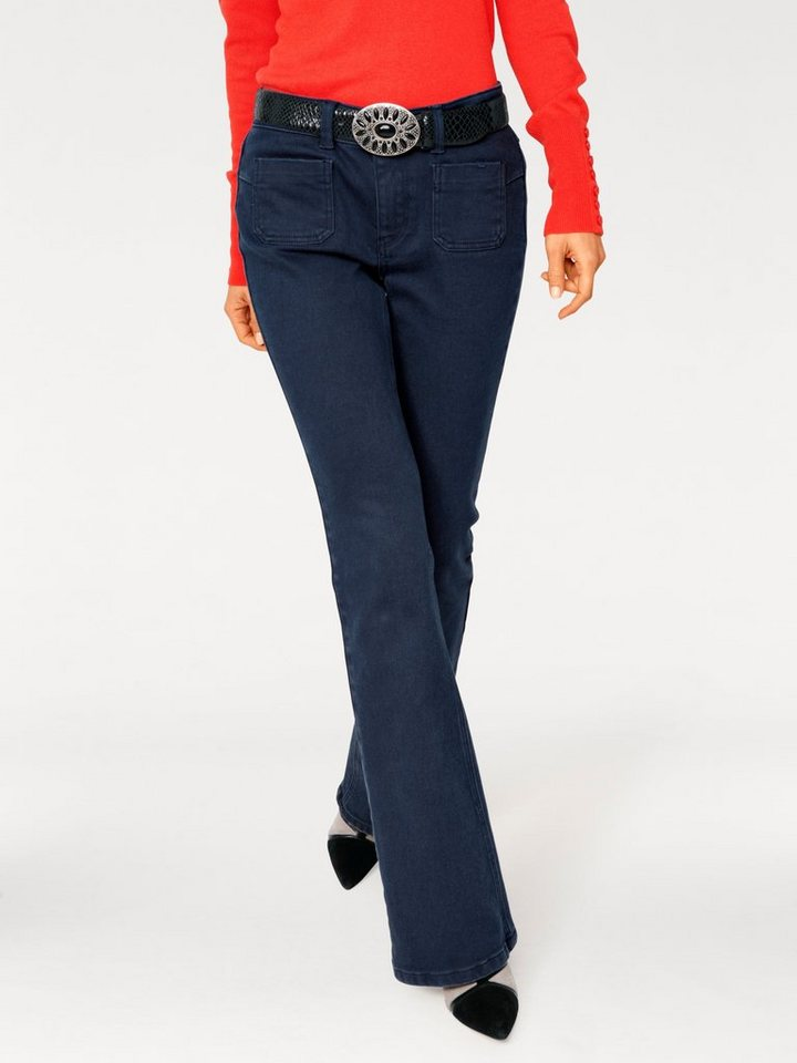 Flared-Jeans in marine