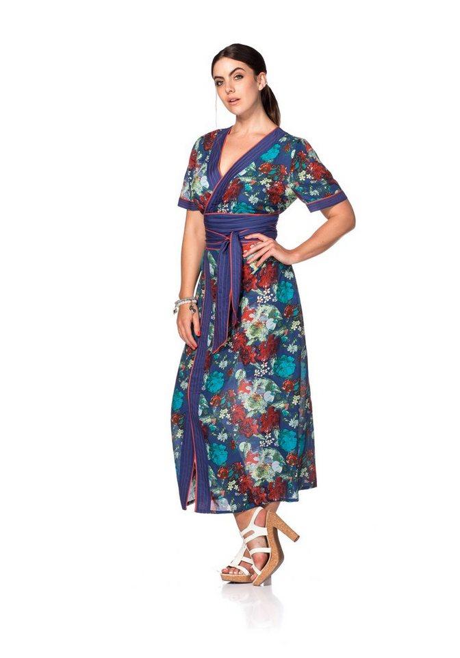 sheego Trend Kleid in indigo bedruckt