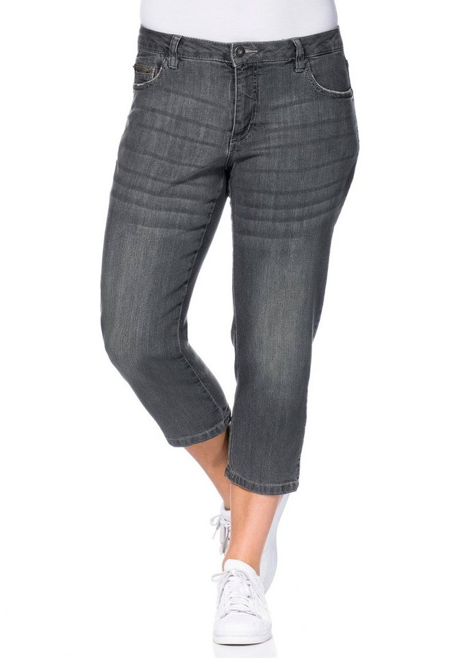 sheego Denim Schmale Stretch-Jeans in grey Denim