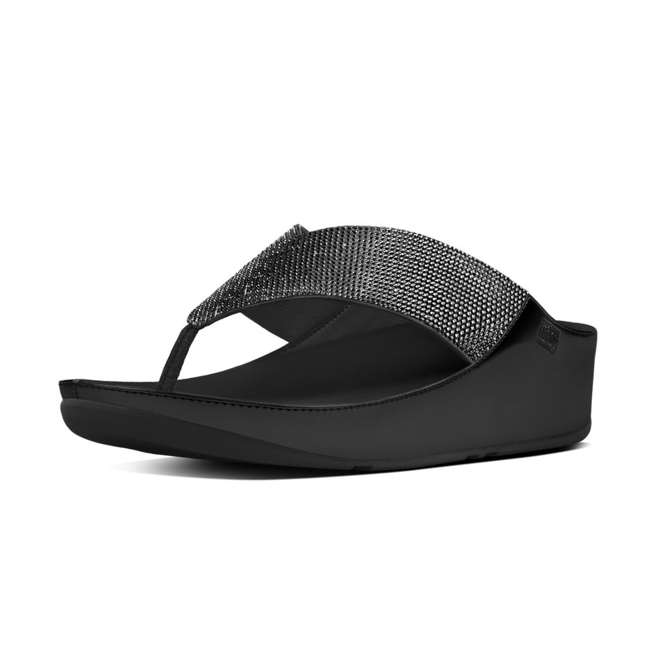 FitFlop »FitFlop CRYSTALL Pewter« Pantolette in schwarz