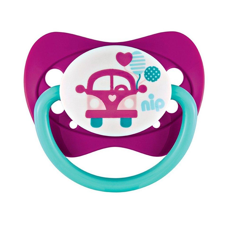 NIP Schnuller Family Bus & Frucht Silikon in 5 Monaten