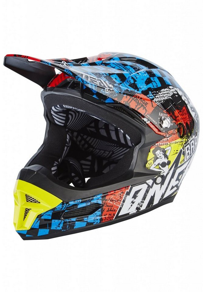 O'NEAL Fahrradhelm »Fury RL Helmet Wild« in schwarz