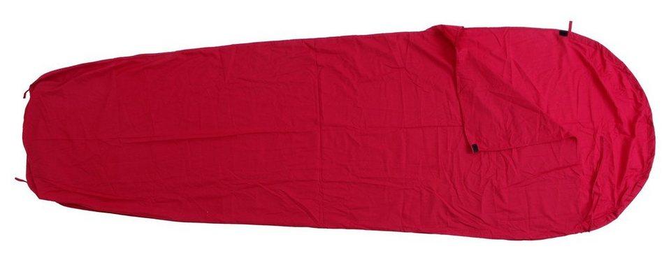 Basic Nature Schlafsack »Mischgewebe Inlett Mumienform« in rot